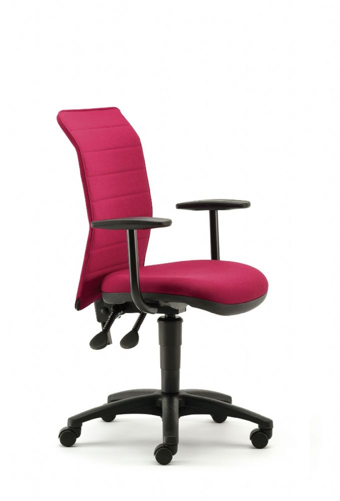 Pledge Air Task Chair With Curved Ribbed Back